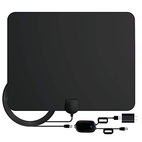 TV Antenna,Indoor Amplified Digital HDTV Antenna 90 Miles Range, 4K 1080P HD VHF UHF for Local Free Local HD TV Channels - 18 FT Coax Cable (The Best Hdtv Antenna On The Market)