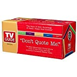 """Don't Quote Me."" TV Guide Board Game"