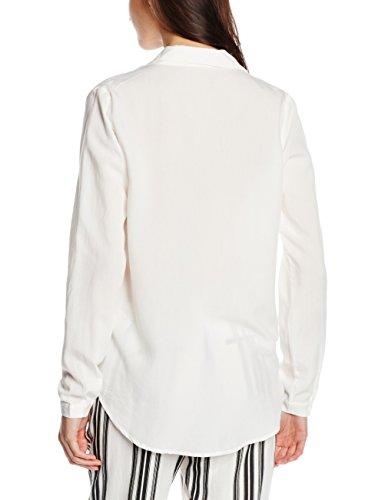 Vila Vifornia L/s Shirt - Blusa Mujer Blanco (Snow White)