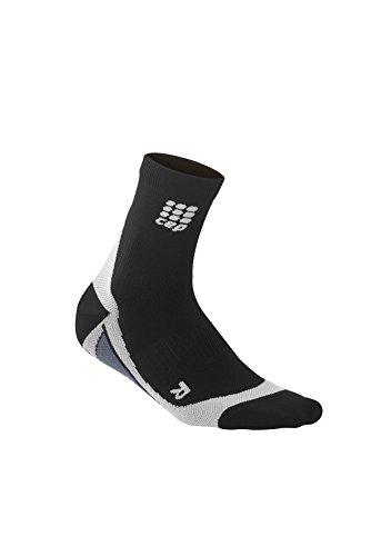 Du SCEP hommes dynamiques + chaussettes courtes, Taille III (dessus de la cheville osseuse 8,5-9 pouces), Noir / Gris