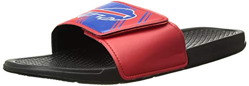 FOCO NFL Buffalo Bills Men's Legacy Velcro Sport Slide Slippers, Team Color, Large