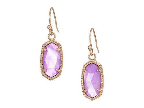 Kendra Scott Signature Lee Drop Earrings (Gold/Lilac MOP) ()