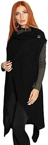 Chalecos de Mujer largos tejidos casuales ensambles moda cardigan sueter sweater
