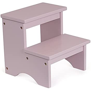 BirdRock Home Childrenu0027s Step Stool | Pink | 2 Step | Wooden Kids Bathroom Bedroom Stepping  sc 1 st  Amazon.com : stepping stools - islam-shia.org