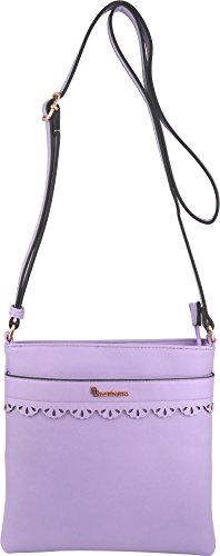 Vegan B Purse Medium Lavender BRENTANO Handbag Crossbody 55nxrgZPzq