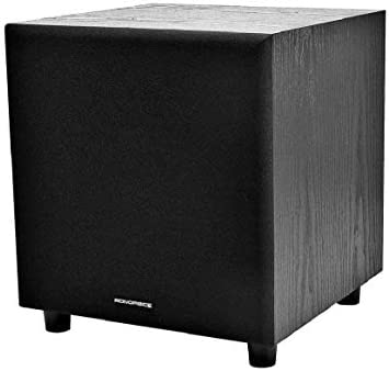 Monoprice 60-Watt Powered Subwoofer – 8 Inch With Auto-On Function, For Studio And Home Theater
