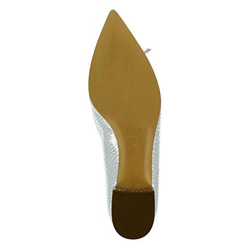 Piel Zapatos vestir mujer de Shoes de Evita Franca plata para x6AnqYPnpc