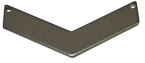 RMP Stamping Blanks, .063'' Aluminum Chevron with 2 hole, 1'' x 2'' by RMP