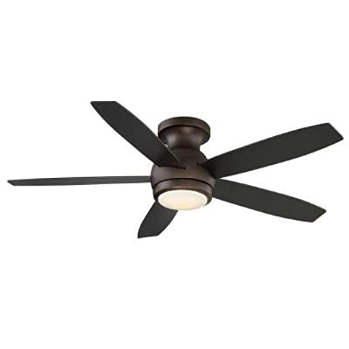 Oil rubbed bronze indoor led ceiling fan