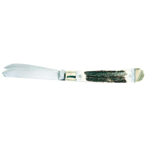 Maxam Trapper Knife- Stag Horn Handle ()