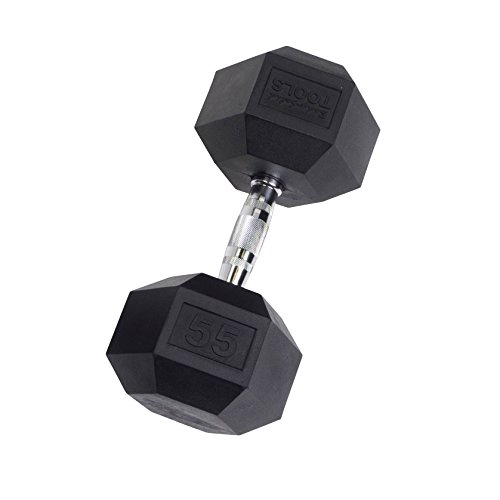 Body-Solid Rubber Coated Hex Dumbbells 3-100 lbs.