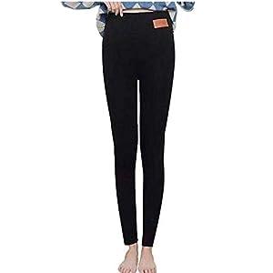 Vertvie Femme Leggings d'Hiver Collant Polaire Chaud Hiver Super Épais Leggings Thermique Velours Pantalon de Crayon…