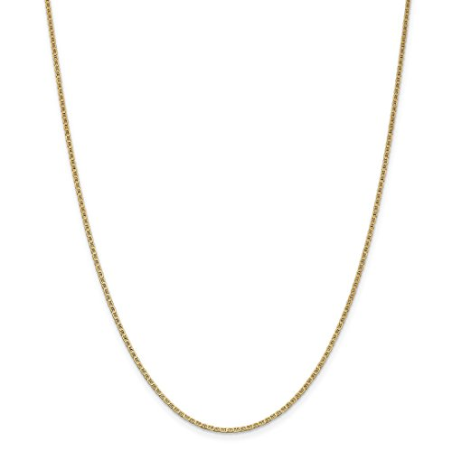 Gold Flat Anchor Chain - 14k Yellow Gold 1.5mm Anchor Cuban Link Chain Necklace 18 Inch Pendant Charm Flat Fine Jewelry For Women Gift Set