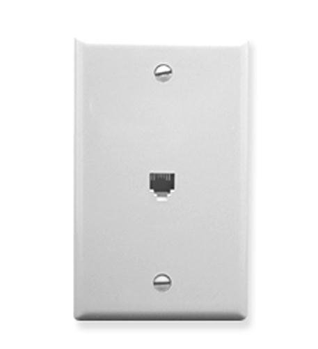 ICC-WALL PLATE- 2 VOICE 6P6C- WHITE