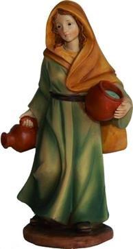 Miniatur Modell Figur Magd mit zwei Krügen, geeignet für 7cm Figuren Zisaline