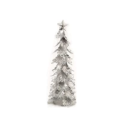 Wire Christmas Tree.Snow White Silver Metal Wire Christmas Tree