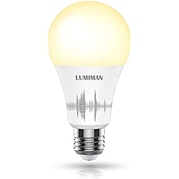 Smart Light Bulb, Wifi Smart Light Bulb with 50W Equivalent, Dimmable Warm White and A19 E26 Edison Bulb, Works with Amazon Alexa and Google Home, No Hub Required, LUMIMAN LM510