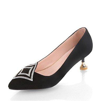 RTRY Tacones Mujer Bomba Básica Zapatos Formales Suede Cashmere Primavera Otoño Office &Amp; Carrera Parte &Amp; Traje De Noche Rhinestone Stiletto Heelblushing US8.5 / EU39 / UK6.5 / CN40