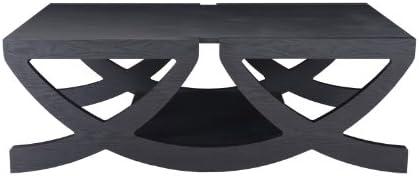 ioHOMES Aliana Modern Coffee Table, Black Finish
