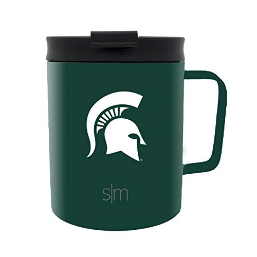 Simple Modern Michigan State University 12oz Scout Coffee Mug - Vacuum Insulated MSU Spartans 18/8 Stainless Steel Travel Tumbler Powder Coated Tea Cup