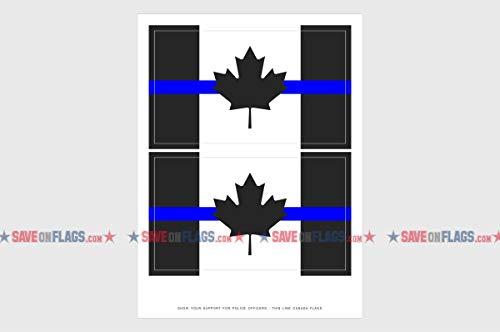 Strong-Willed Thin Blue Line Bracelet Police Lives Matter Canada Canadian Flag Law Enforcement Bracelet Adult Size Wristband Large Assortment Buckles & Hooks