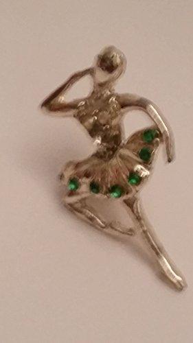 tone ballerina with green faux gem pin (preowned) (Tone Ballerina)