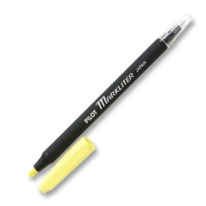 6 PACK: Pilot Markliter Black Ballpoint Pen & Fluorescent Yellow Chisel-Tip Highlighter(45600) by Pilot End Combo