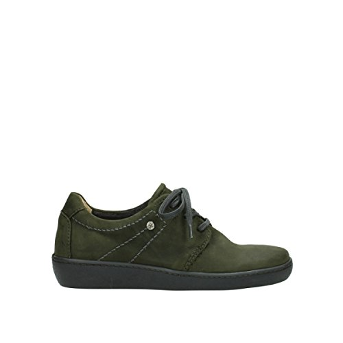 Comfort Lacets Vert Cuir Artemis À Wolky 50730 Chaussures fgCwfq