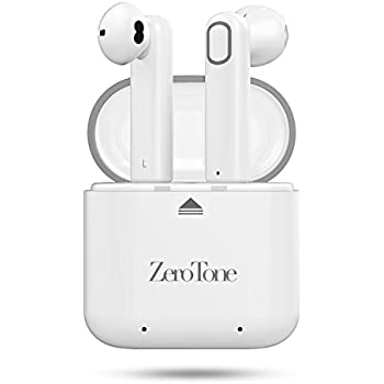 Wireless Earbuds, ZeroTone Dual Bluetooth Headphones V4.2 True Mini In-Ear Headsets Stereo Sports Earphone Earpiece Sweatproof with Charging Box Noise Cancelling for iPhone Samsung Smartphone
