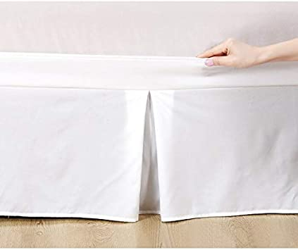 """24/"""" Drop Twin XL Ruffled Bed Skirt Silver Solid with Split Corners Easy Fits 6/"""""""