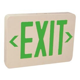 (Emergi-Lite ELX400GN Thermoplastic Exit Sign - Ac-Only Green Led'S)