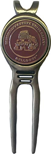 Mississippi State Bulldogs Golf Ball Marker Divot Tool Great Gift IDEA Hail State