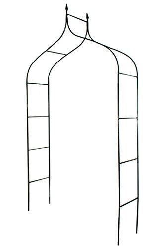 1.Go Gothic Steel Garden Arch, 8'3' High x 4'5' Wide, Garden Arbor for Various Climbing Plant, Outdoor Garden Lawn Backyard