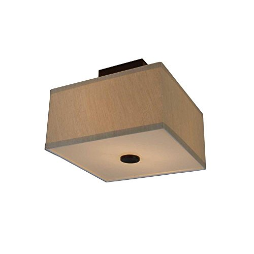 2-light Oil Rubbed Bronze Glenburn Semi-flush Cube by Hampton Bay
