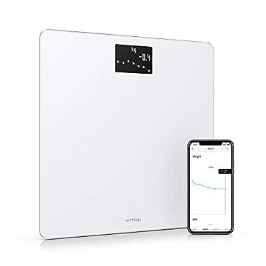 Withings-Body-Bascula-inteligente-con-conexion-Wi-Fi-y-seguimiento-del-IMC-bascula-digital-de-bano-con-sincronizacion-con-la-aplicacion-movil-por-Bluetooth-o-Wi-Fi-Blanco