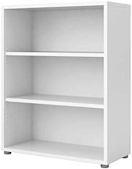 Biblioteca de 2 estantes, 3 huecos, decoración blanca ...