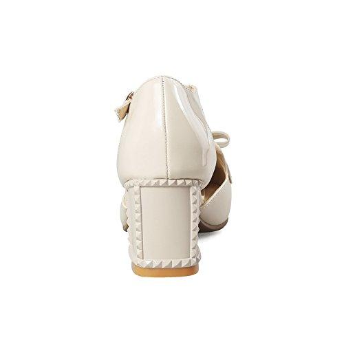 BalaMasa Sandales Compensées Femme - Beige - Abricot, 36.5