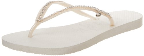 - Havaianas Women's Slim Crystal Mesh Flip Flop Sandal,White, 41/42 BR(11-12 M US Women's / 9-10 M US Men's)