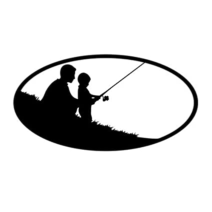 04a52bdd8f0789 Father Son Fishing Vinyl Decal Window Sticker Graphic Auto Wall Laptop  Family