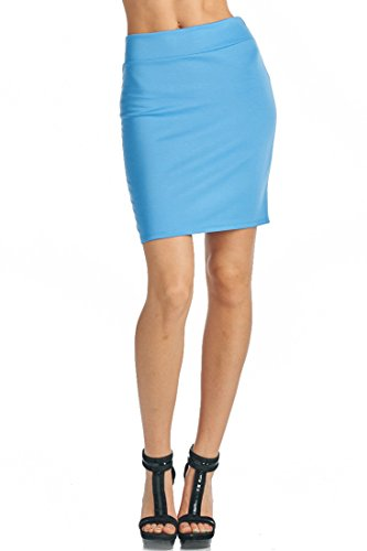 82-Days-WomenS-Casual-To-Office-Wear-Above-Knee-Pencil-Skirt-Solid-Prints