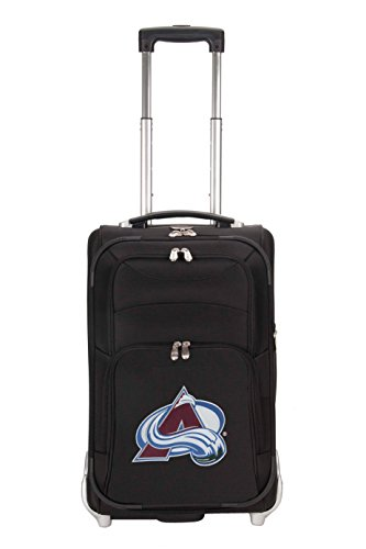 NHL Colorado Avalanche Denco 21-Inch Carry On Luggage, Black (Padded Wheeled Case Hardside)