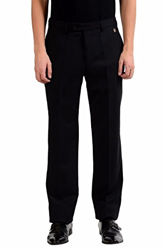 Versace Collection Men's Black Wool Dress Pants Size US 36 IT - Collection New Versace
