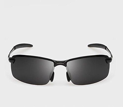 sol de hombres QQB sol A aluminio Gafas de aleación gafas Gafas Gafas y magnesio para Conducción de de polarizadas B de Color Gafas sol Gafas IttwFqzxf