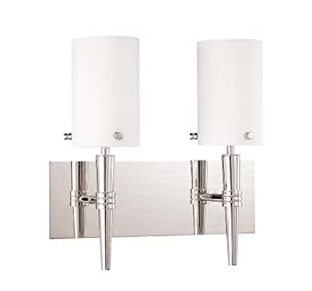 Nuvo Lighting 60/3867 Jet Vanity Light with Frosted Glass, Brushed Nickel, 2-Light
