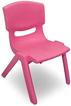 173710 Sedia colorata per bambini in plastica resistente 26 x 30 x 49 cm. MEDIA WAVE store ® (Rosa)