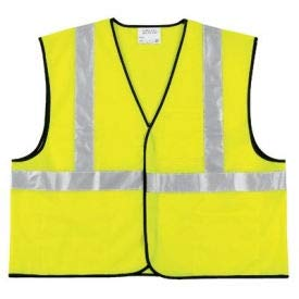 Class II Economy Safety Vests, RIVER CITY VCL2SLL, Large (3 Pack) Class 3 Economy Vest