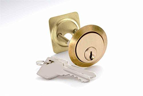 5-Pin Rim Cylinder in Polished Brass (Set of - Cylinder Rim 5 Pin