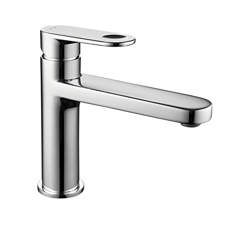 Palazzani Wild 083045 Italian Made 1-Hole Bathroom Faucet with Ultra Smooth Swivel, in Chrome