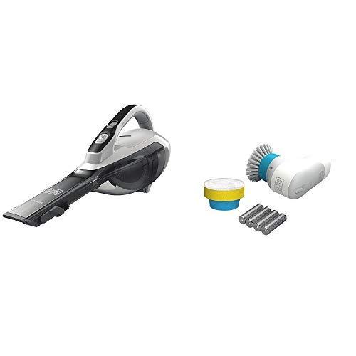 BLACK+DECKER HLVA325J10 Lithium Hand Vacuum 2.5 Ah, Powder White