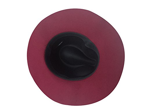 Style Tendance 6 Imitation Bonnet Chapeau Feutre Femme rouge De Couleurs Pour Vineux Acvip Noir Rose Avec Laine Nœud gx7q4